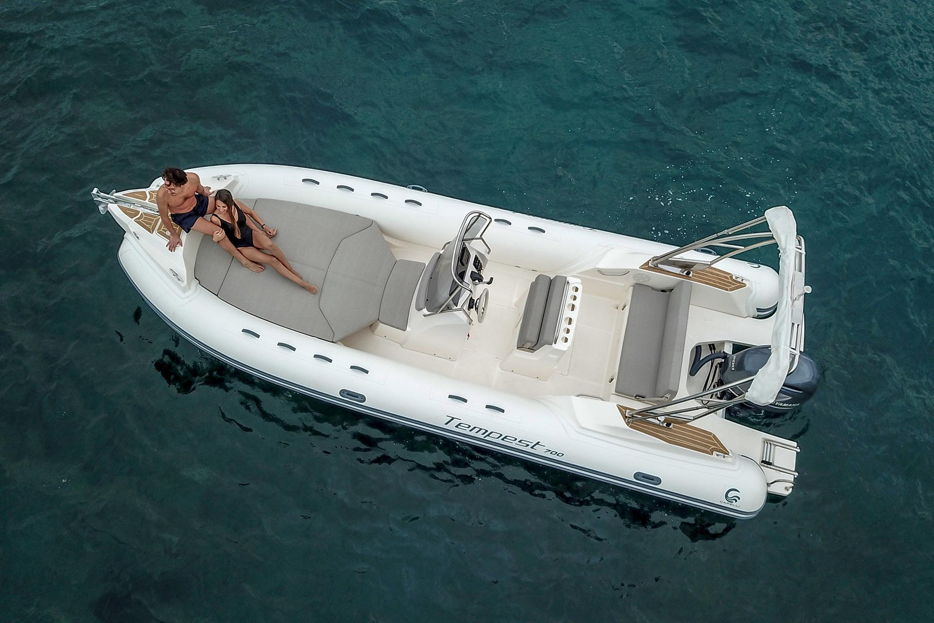 Capelli Tempest 700 on the water