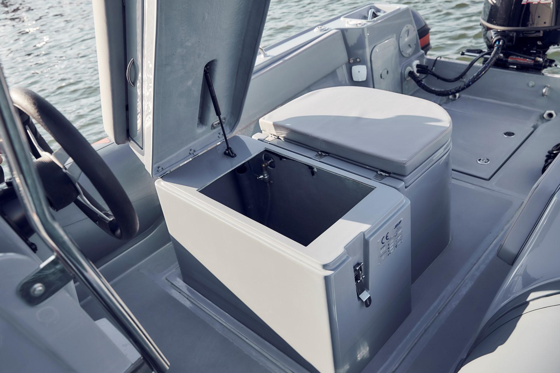 Joker Boat Barracuda storage under the seat