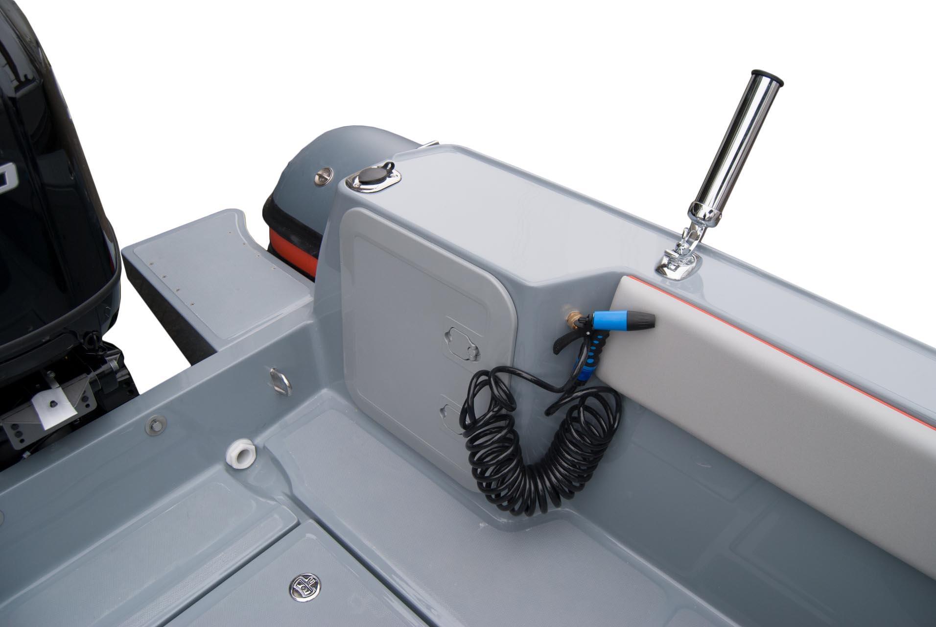 Joker Boat Barracuda deck wash and rod holder